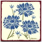 Blue Cornflower, Tile, Wall Art, Trivet