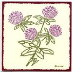 Red Clover Wall Plaque, Trivet BB-17 $32.95