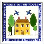 Peace to This House Wall Plaque, Quilt Tiles, Trivets