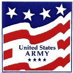 Armed Forces and Military Gift Tile Wall Plaques, U.S. Army Wall Plaque by Besheer Art Tile