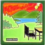 Jordan Pond House Tile at Acadia National Park