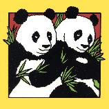 Hand Painted Panda Tiles Made Expressly for the National Zoo by Besheer Art Tile....Giant Pandas are struggling to survive in the wild. Scientists at the Smithsonian's National Zoo are studying the Zoo's panda pair. Mei Xiang and Tian Tian, to learn more about this critically endangered species. Friends of the National is dedicated to supporting the National Zoo in a joint mission to celebrate, study and protect the diversity of animals and their habitats.