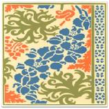 "Monks Hood Tile. Besheer Art Tile has created a series of tiles for the Museum of Fine Arts Boston that is inspired by images from a book in their collection: Plants and their Application to Ornament, published in London in 1897 by Eugene Samuel Grasset, has unique floral designs, each one based on a specific flower. These tiles are hand made in New Hampshire. The ceramic tile, which is heat resistant, can be used as a trivet or hotplate, as well as hung for wall decor. 6"" x 6"", Cork backed. Wipe clean."