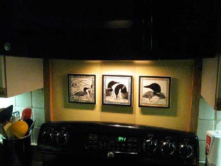 Loon Tiles Used as Wall Plaques Hand Painted by Besheer Art Tile